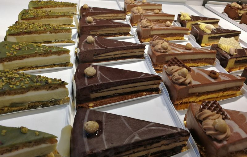 Food Food And Drink Dessert Sweet Food Sweet Freshness Indulgence Temptation Unhealthy Eating Ready-to-eat No People Chocolate Still Life Variation Indoors  Choice Baked Close-up Cake For Sale Snack