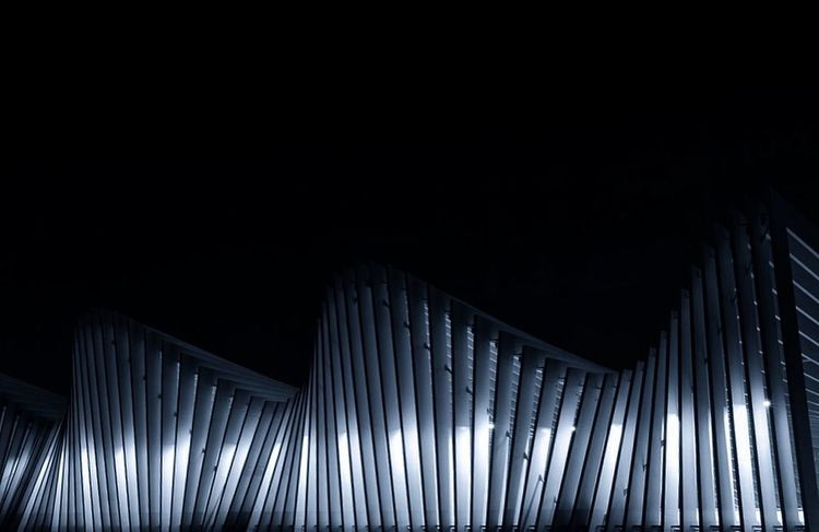 Reggioemilia Mediopadana Train Station No People Pattern Architecture Night Copy Space Built Structure Indoors  Dark Low Angle View Illuminated Modern Adventures In The City Capture Tomorrow