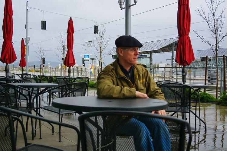 That's Me, Taking Photos, Rainy Days☔, Man Sitting Outside, Embrace Urban Life Uniqueness