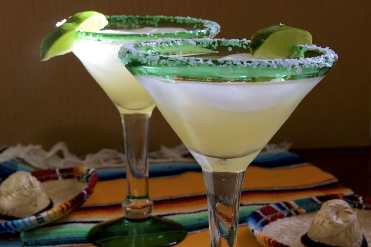 Close-up of margarita drink on table