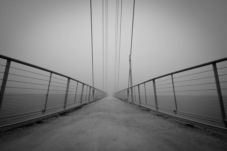Bridge To Nothingness Brücke Ins Nichts PENTAX K-70 Architecture Black And White Photography Bridge Bridge - Man Made Structure Built Structure Cold Temperature Nebelig No People Outdoors Pentax The Way Forward
