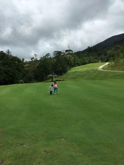 83% score by Roll app Golfcourse Kids Kids Being Kids Kidsphotography Green Beauty In Nature