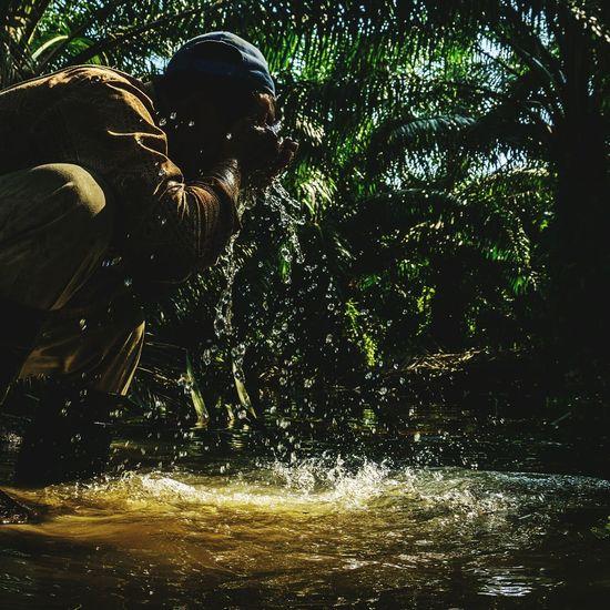 43 Golden Moments Golden Water Washing Face Water Splashing Fresh Nature Man Washing His Face