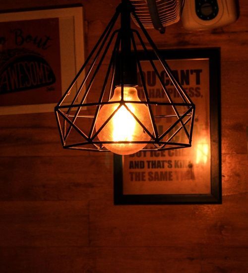 Illuminated Lighting Equipment Hanging Indoors  No People Electricity  Electric Lamp Light Glowing Wall - Building Feature Pendant Light Architecture Electric Light Light - Natural Phenomenon Home Interior Close-up Lantern Technology Low Angle View Ceiling