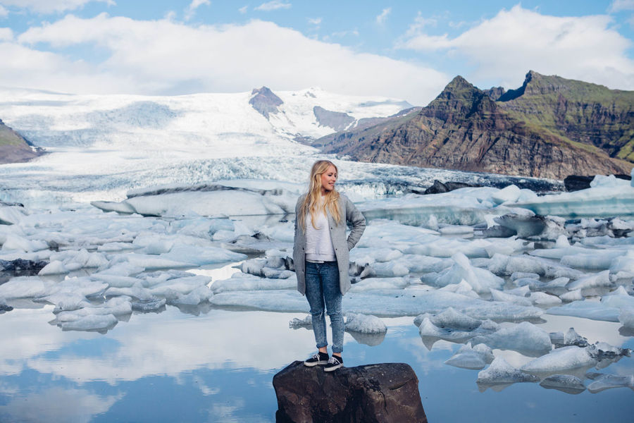 Beauty In Nature Cold Temperature Exploring Fashion Glacier Glacierlake Ice Iceland Iceland Memories Mountain Nature Nature Non-urban Scene Scenics Snow Tranquil Scene Tranquility Traveling Travelingram Vacations Wanderlust Water Woman Woman Portrait Working