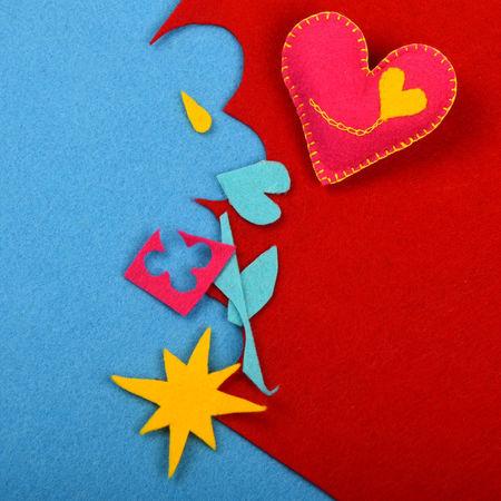 Felt craft desktop, making your own gift for the ones you love Art Close-up Color Palette Colorful Colors Colour Of Life Creative Creativity Design Feelings Felt Felt Craft FeltCraft Gift Handicraft Handmade Heart Love Romance Romantic Valentine Valentine's Day  Vivid