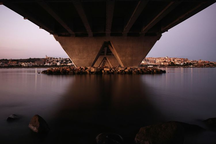 Sa scaffa bridge over the lagoon
