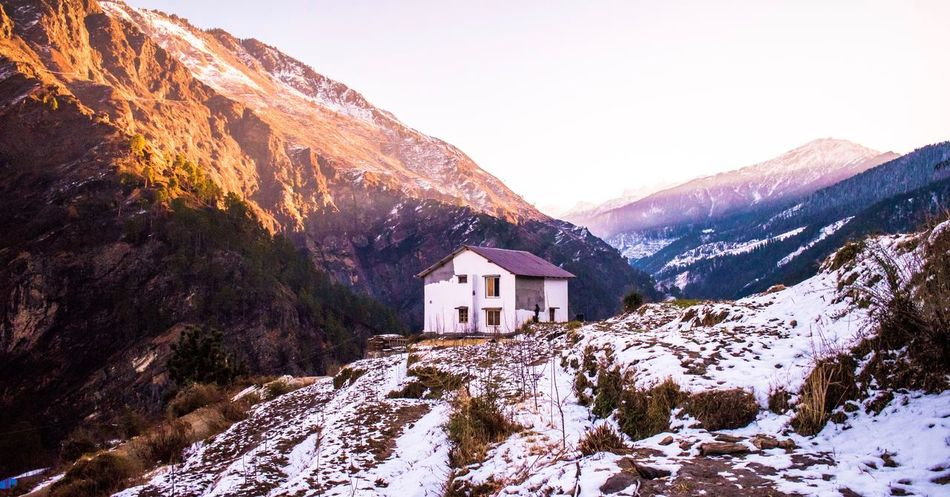 Living in the mountains EyeEm Nature Lover EyeEm Gallery EyeEm Best Shots Travel Besutiful Sunrise Rise Up Sunshade Sunshine Morning Sunshine Esrly Morning Snow Covered Mountains And Snow Natural Mountain Snow House Winter Mountain Range Architecture Cold Temperature No People Outdoors Landscape Nature Snowcapped Mountain Beauty In Nature Scenics Day Cliff #FREIHEITBERLIN