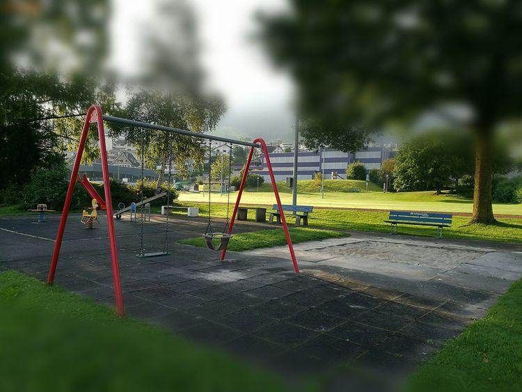 Kinderspielplatz Ruhe Vor Dem Sturm Vierwaldstättersee Morning Walk Küssnacht Am Rigi