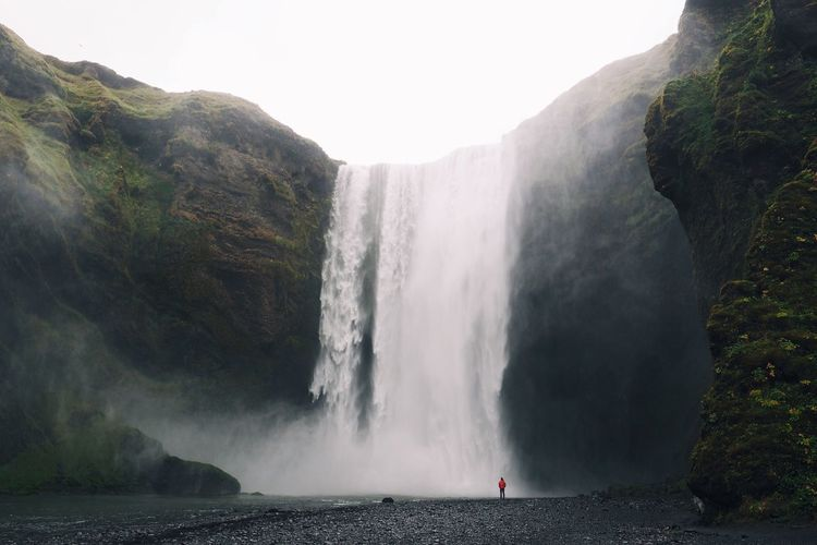Nature Waterfall Beauty In Nature Water Scenics Majestic Cliff Tourism Travel Destinations Outdoors Rock - Object Power In Nature Tranquility at Skogafoss Iceland My Year My View Miles Away The Great Outdoors - 2017 EyeEm Awards Lost In The Landscape Been There.