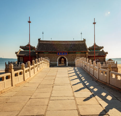 Ancient Archaeological Site Architecture Great Wall Hebei Place Of Worship Sunlight Tourist Attraction China Chinese Historic Site History Landmark Qinhuangdao Sea Shanhaiguan Temple Traditional