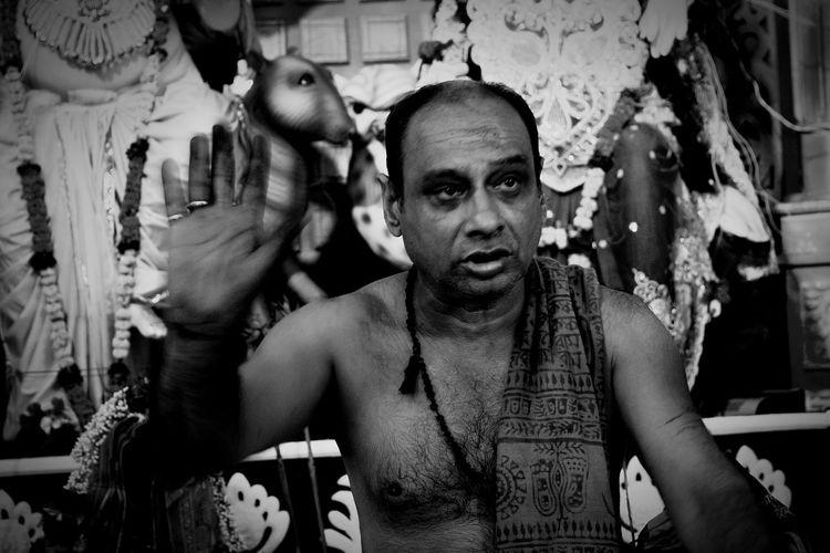 Sadhu in temple