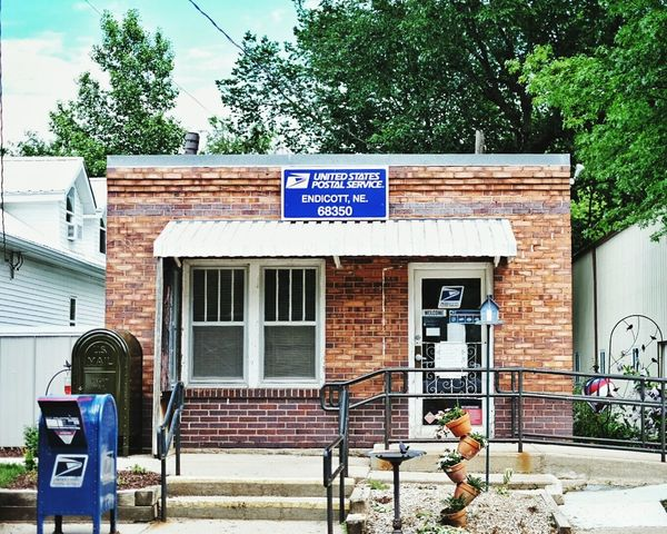 Postal Post Office Small Town Brick Building Rural America Americana Old Buildings MidWest Nebraska Snail Mail On The Street