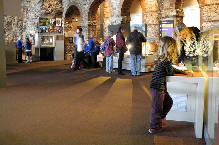 Colchester Castle Museum - Colchester. Essex. UK Architecture People Real People Men Women Museum Day Standing Childhood Indoors  Colchester Togetherness Adult Lifestyles Young Adult Full Length EssexCounty Young Women Leisure Activity Medium Group Of People Illuminated Displays Local Museum Garrison Town Historical Essex Roman Artifacts Roman Fortress Roman Town Roman Walls