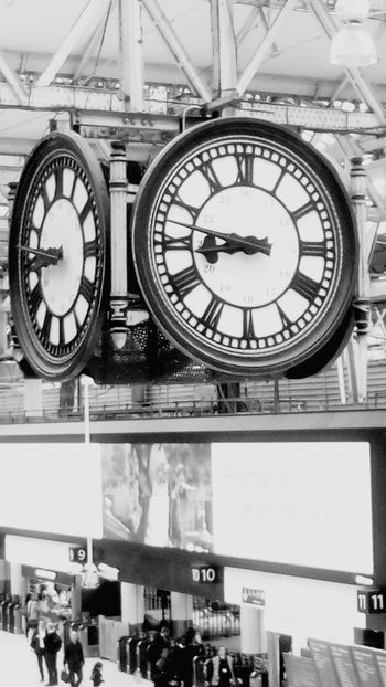 Clock Indoors  Day Clock Face London Waterloo Station Black & White City Black And White Friday