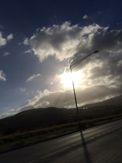 Clouds And Sky nothing special just on my way home from work with the Sun Shinning On My Face Nofilter