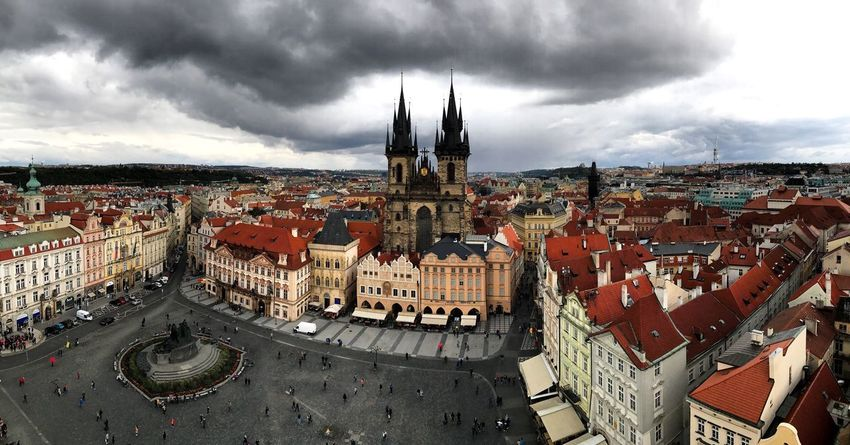 Prague Architecture Building Exterior Sky Built Structure Cloud - Sky Cityscape Day No People Religion Panoramic Travel Destinations Roof City Phtographylovers Photography Canon View Panorama Cityscape Town Prague Czech Republic Travel IPhoneography EyeEmNewHere EyeEmNewHere