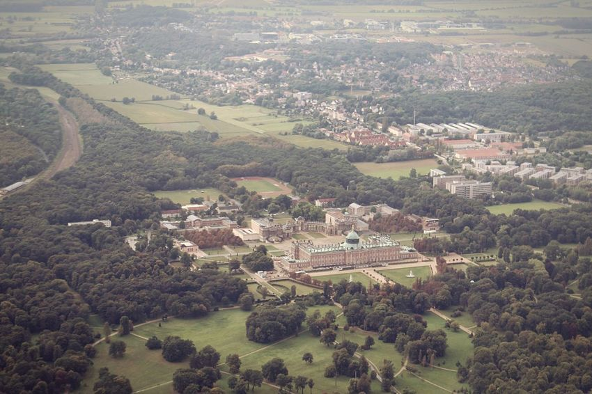 Luftaufnahme Potsdam Potsdam Sancoussie Airplaneview Airplanephoto Airplanephotography Castle Urban High Angle View Aerial View Landscape Nature Outdoors Day Architecture