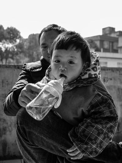 Blackandwhite Casual Clothing Childhood Elementary Age Leisure Activity Lifestyles Looking At Camera Monochrome Outdoors Real People Togetherness Two People The Portraitist - 2018 EyeEm Awards The Portraitist - 2018 EyeEm Awards