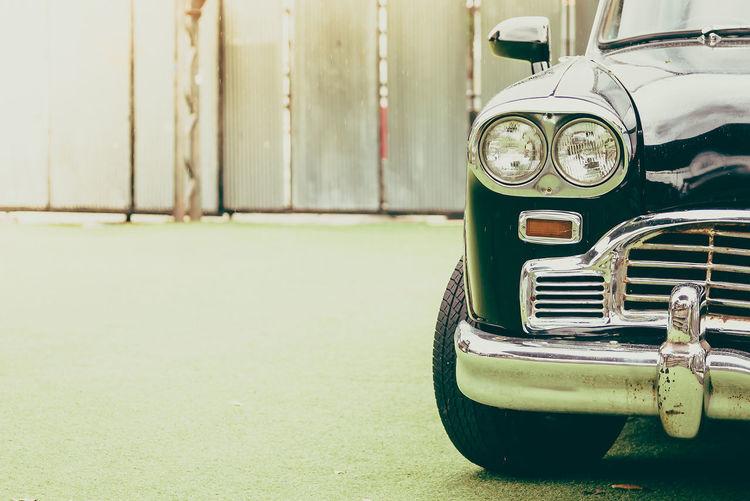 Cropped Image Of Vintage Car