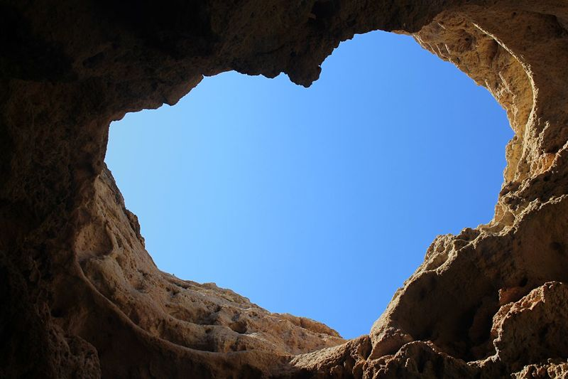 ❤️🌍 Nature Low Angle View Sky No People Clear Sky Rock Solid Cave