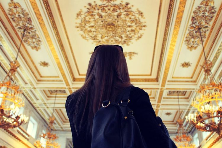 Girl Lifestyles Long Hair Museum Russia Saint Petersburg Standing The Following Feel The Journey 43 Golden Moments