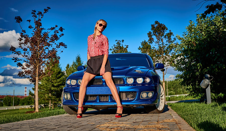 Adult Summer Blue Full Length Adults Only Women Only Women Sky Outdoors Day People Transportation One Woman Only Mitsubishilegnumvr4 Vr4