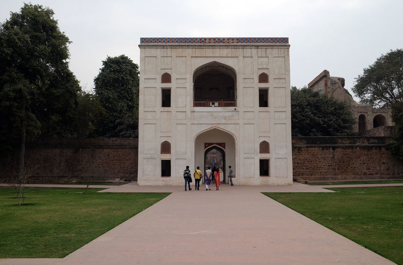 Humayun's tomb entrance Darwaza, Delhi, India ASIA Darwaza Delhi Empire Humayun India Persian Unesco Architecture Emperor Grave Heritage Historic History Islam Mausoleum Moghul Mogul Mughal Old Palace Stone Tomb Travel Destinations