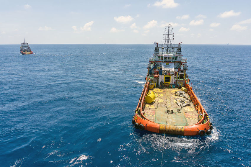 anchor job Anchor Handling Tug Anchor Rug Tugboat Tug Boat Oilfield Offshore Offshore Life Vessel Ship Work Horizon Over Water Wave Ocean Oil And Gas Industry Construction Barge Able Bodied Seamen Deck Nautical Vessel Sea Water Sky Horizon Over Water Buoy Floating