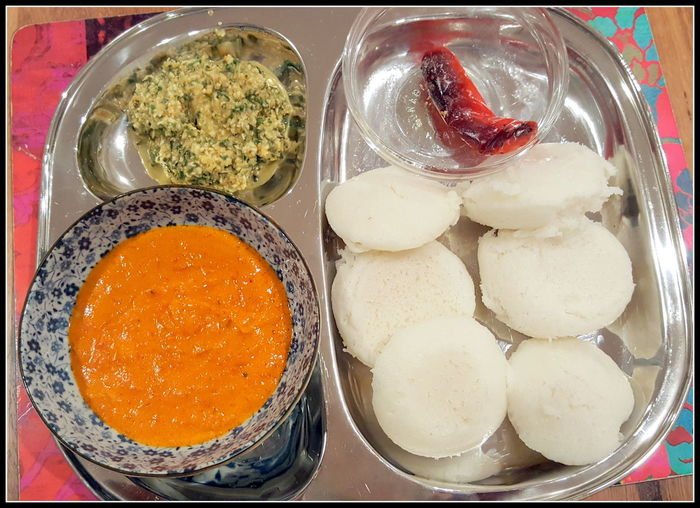 Cooking At Home Bowl Chutney Close-up Day Food Food And Drink Freshness Home Made Food Idlee Idli Idli Maker Indian Food Indoors  South Indian Food