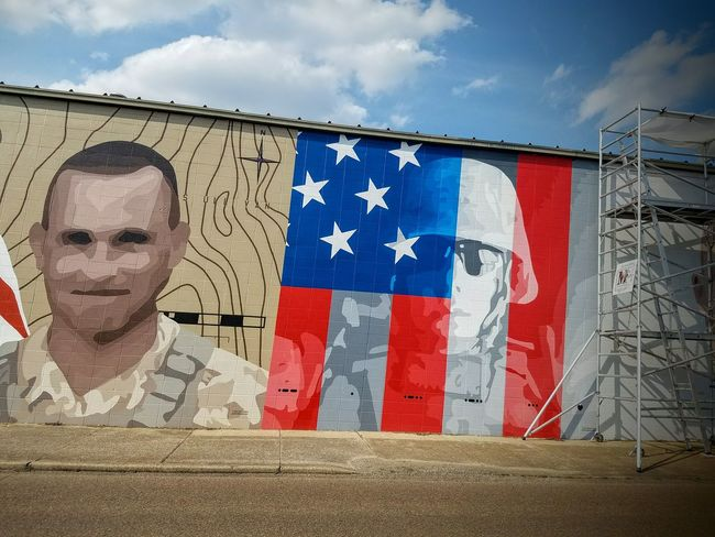What began an average day at work for these men ended in terror, their bravery and their lives Freedom Memorial Day Memorialday Independence Day The Architect - 2016 EyeEm Awards Stars And Stripes Flag Memories Streamzoofamily Terrorist Attack Mural Art Military Soldier Mural HERO America 4th Of July Outdoor Photography Chattanoogastrong Chattanooga Tennessee The Street Photographer - 2016 EyeEm Awards Ladyphotographerofthemonth Fight The Photojournalist - 2016 EyeEm Awards Terrorism Memorial