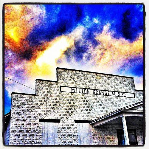 Truly Milton. #miltonvt #vt Architecture Meeting Clouds Landmark Stunning Vermont Dramatic Bang Vt Btv 802 Milton_vt Miltonvt Grange
