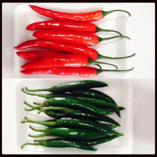 Chillies Red Green