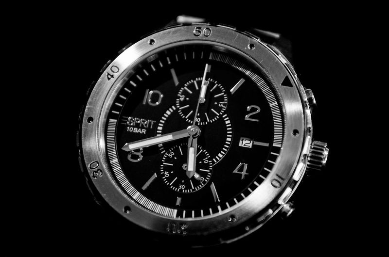 My old watch. Black And White Black Background Watch Esprit Malephotographerofthemonth From My Point Of View Tadda Community EyeEm Best Shots Nikon Closeup