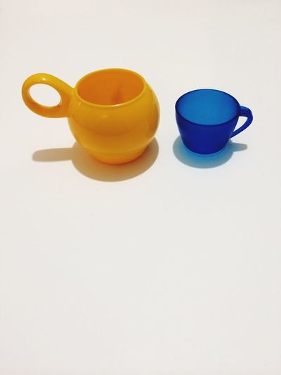 Tea set against white background