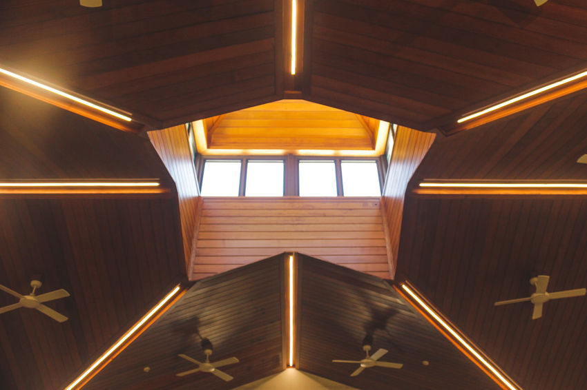 Skylight Architecture Ceiling Day Illuminated Indoors  No People Wood - Material
