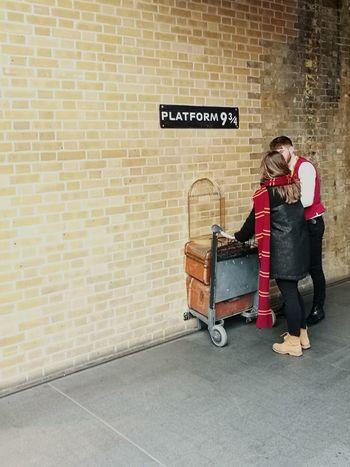 To Hogwarts Platform 9 3/4  Hogwarts Express Hogwarts Platform Kings Cross Station, London Gryffindor Harry Potter EyeEm LOST IN London