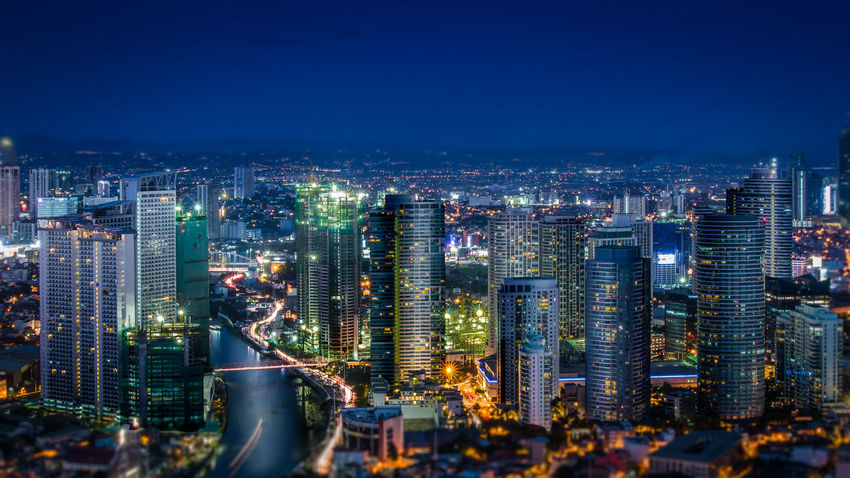 Nightscape of Rockwell Makati - captured with Canon and Tokina 24-70 F2.8 Architecture Building Exterior Built Structure City Cityscape Crowded High Angle View Illuminated Modern Night Outdoors Sky Skyscraper Tokina Tourism Travel Destinations Urban Skyline