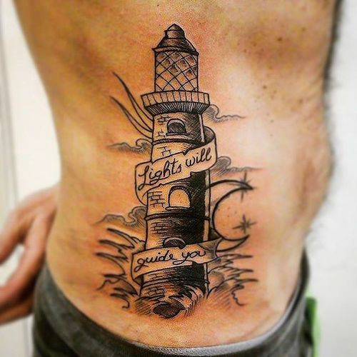 """Lights will guide you"" Igers Igerspalermo Palermo Instagood Instalike Instadaily Instamood Tattoo Tattoos Tattooed Instatattoo Coldplay Lighthouse Lighthousetattoo Me Pic Quote Faro Sea Landscape Blackandwhite Tattooart Ink Inked bestoftheday picoftheday vsco love life"