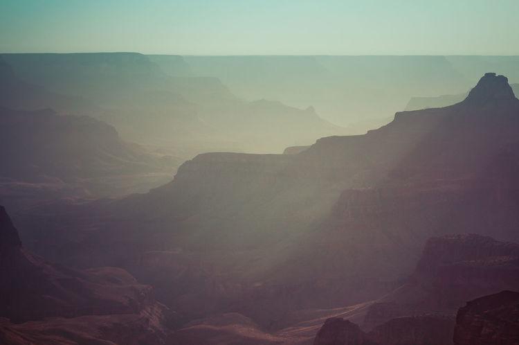 Arizona Canyon Dusk Grand Canyon Landscape Landscape_Collection Landscape_photography Landscapes Light Mist Nature Nature Photography Nature_collection Nature_perfection Naturelovers Rays Sun Sun Rays Sunset The KIOMI Collection USA