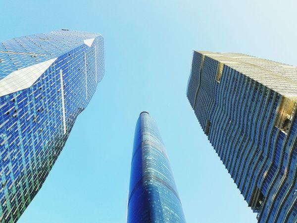 三足鼎立 Low Angle View Skyscraper Architecture Modern Built Structure Sky Building Exterior Travel Destinations City
