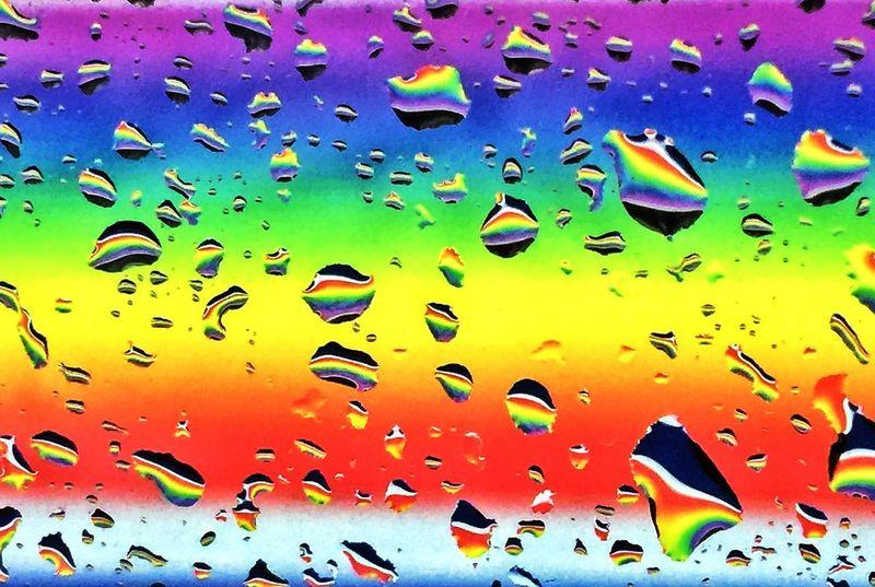 Rainbow Water Drops Rainbow Reflection Rainbows Colorsplash IPhoneography PhonePhotography Taking Photos