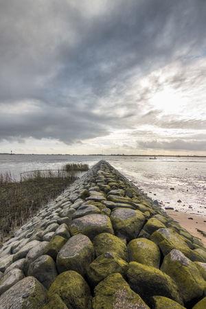 Elbe River Kollmar River Elbe ♥️ Beach Beauty In Nature Cloud - Sky Horizon Nautical Vessel No People Scenics - Nature Sea Stone Wall Tide Water