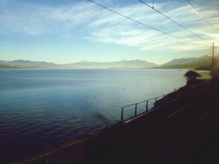 Lake A View From The Train Window - 世界の車窓から EyeEmSwiss Leonie Filter