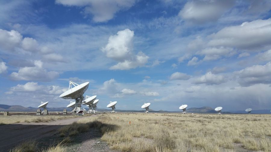 Very Large Array, New Mexico Beauty In Nature Cloud - Sky Day Field Fuel And Power Generation Grass Industrial Windmill Landscape Nature No People Outdoors Sky Space Very Large Array Vla Wind Power Wind Turbine Windmill