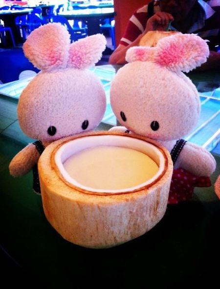 Shall we start? ^_^ Toy Bunny  Summertime Restaurant Cute Tasty
