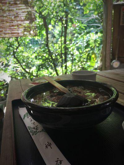 お食事中♪ 手打ち蕎麦、緑も一緒に食す!(笑) Ultimate Japan Soba 蕎麦 手打ち蕎麦 Japanese Food Green Reflection