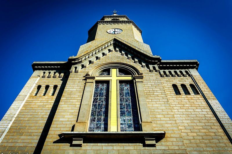 Cathedral EyeEmNewHere Church Cathedral City Clear Sky Place Of Worship Religion History Blue Spirituality Sky Architecture Building Exterior Bell Tower - Tower A New Perspective On Life