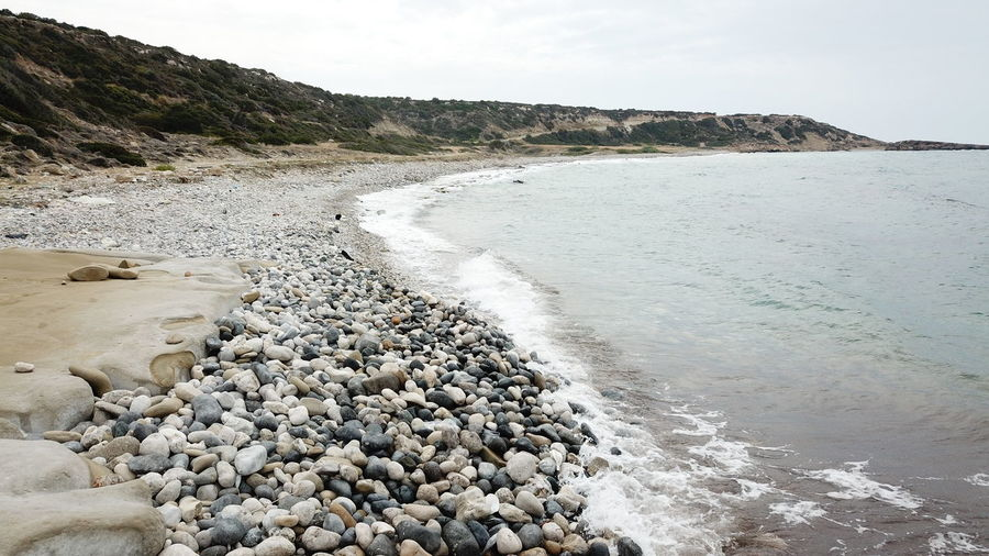 Aquatic Sport Beach Beauty In Nature Day Flowing Water Land Motion Nature No People Outdoors Pebble Rock Rock - Object Rocky Coastline Scenics - Nature Sea Sky Solid Stone Stone - Object Tranquil Scene Tranquility Water