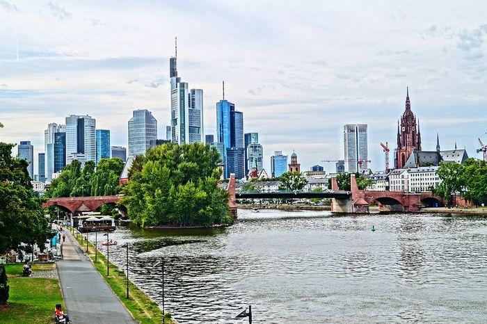 Frankfurt Am Main Skyline Main Germany🇩🇪 City